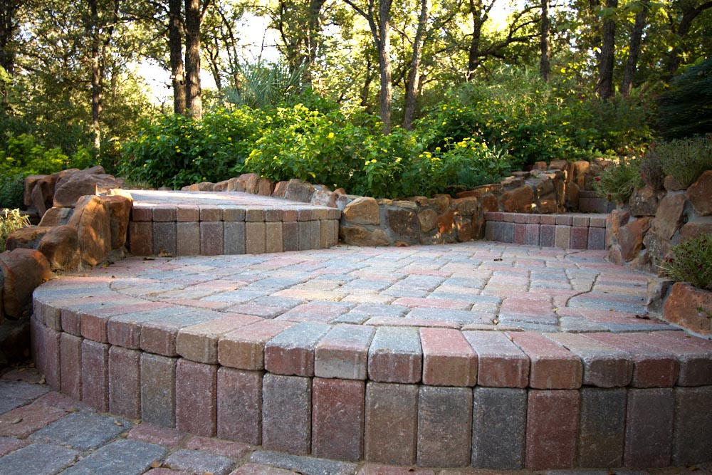 Large paver driveway in Abilene, Texas
